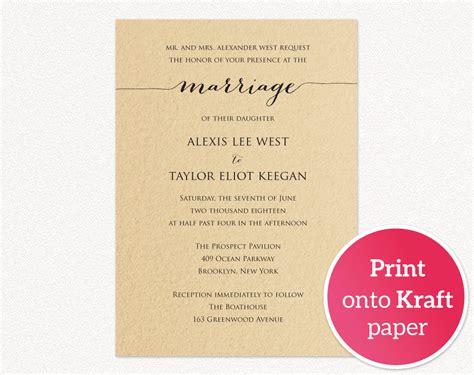 Wedding Invitation Template Printable · Wedding Templates