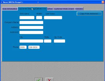 Boat Repair Shop Software by Customers Form Shipping Information