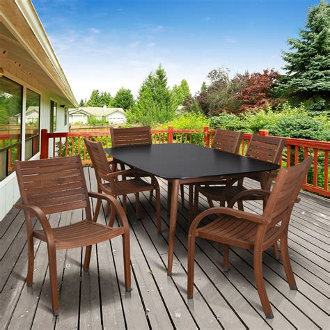 Kmart Patio Dining Sets by Amazonia Tennessee 7 Rectangular Patio Dining Set