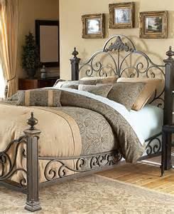 manchester gilded slate king metal bed