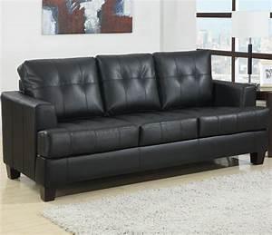 112545 samuel black bonded leather sofa sleeper sofa With bonded leather sectional sleeper sofa