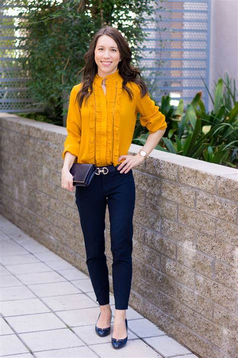 How to Wear Navy u0026 Mustard Yellow Together + 9 Affordable Tops
