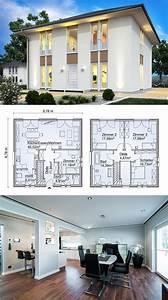 Haus Bauen Ideen Grundriss : stadtvilla neubau modern mit zeltdach architektur ~ Orissabook.com Haus und Dekorationen