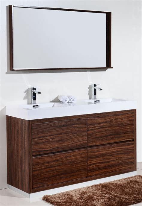 Free Standing Bathroom Vanity Ideas by Bliss 60 Quot Sink Walnut Free Standing Modern Bathroom