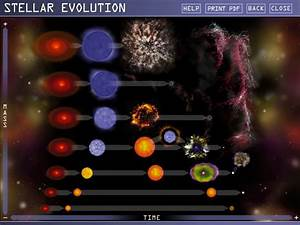 Interactive Guide Explaining Star Life Cycles For