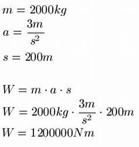 Arbeit Berechnen : beschleunigungsarbeit ~ Themetempest.com Abrechnung