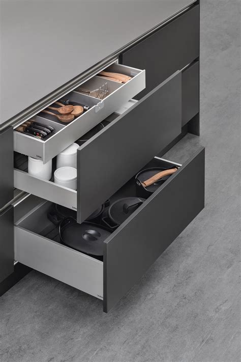 siematic aluminium drawers kitchen kitchen drawers