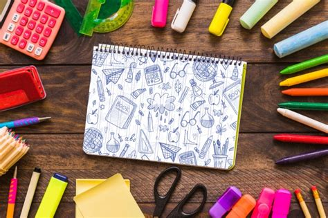 back to school mockup image notebook mockup with back to school concept psd file free