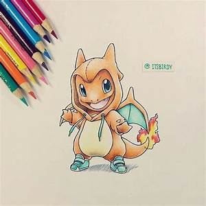 Cute Charmander colored pencil drawing. | pokemon ...