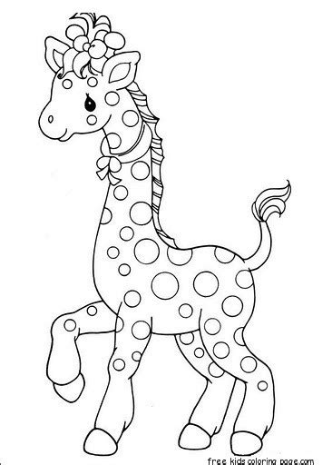 printable africa animal giraffe pair coloring pages  kidsfree printable coloring pages  kids