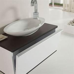 Badmöbel Set Modern : badm bel set g ste wc pure waschbecken handwaschbecken grau wenge eiche 80cm ebay ~ Indierocktalk.com Haus und Dekorationen