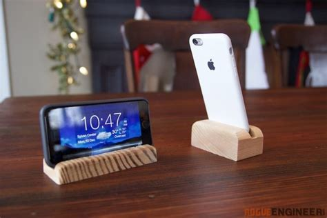 diy phone stand for desk phone stand rogue engineer