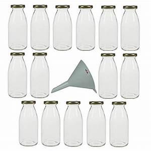 Kleine Gläser Mit Schraubverschluss : viva haushaltswaren 15 kleine glasflaschen 250ml mit schraubverschluss inkl einem ~ Eleganceandgraceweddings.com Haus und Dekorationen