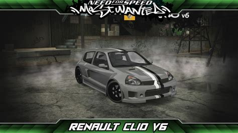renault clio v6 nfs carbon need for speed most wanted car build renault clio v6