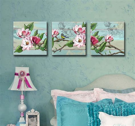 shabby chic canvas shabby chic set of 3 canvas art 12x12 girls room wall art