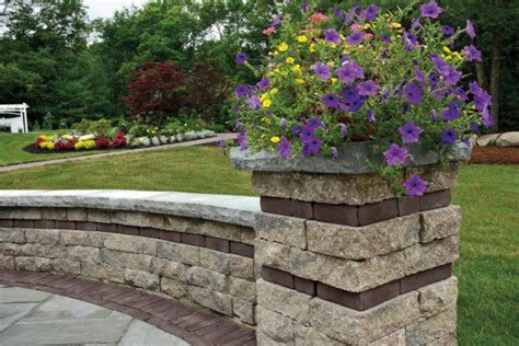 unilock estate wall estate wall and pillar with copthorne paver photos