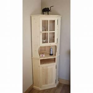 Meuble Angle Bois : meuble d 39 angle en bois brut 52 5x52 5x175cm achat ~ Edinachiropracticcenter.com Idées de Décoration