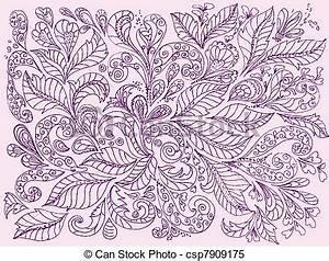 Blumen Bilder Gemalt : clipart vektor von gemalt blumen design hand hand gemalt blumen csp7909175 suchen ~ Orissabook.com Haus und Dekorationen