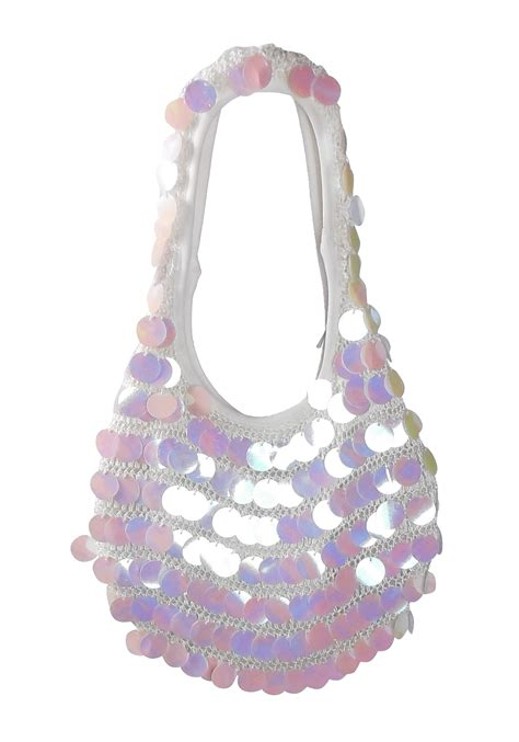 Mermaid Decorations For Home by White Sequin Mini Hobo Bag