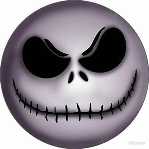 """Jack Skellington scary face "" Stickers by lidijaarts"