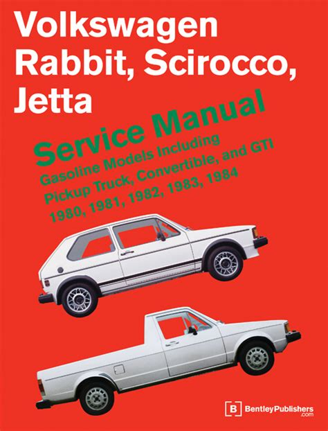 vehicle repair manual 1984 volkswagen scirocco on board diagnostic system front cover vw volkswagen repair manual rabbit scirocco jetta 1980 1984 bentley