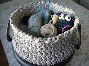 Corbeille Au Crochet : hoooked zpagetti un panier une corbeille au crochet tricot crochet doudous de memie cathy ~ Preciouscoupons.com Idées de Décoration