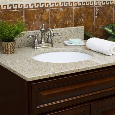 Small Vanity Tops by 43 Quot Vanity Top With Sink 8 Quot Spread Granite Wheat By