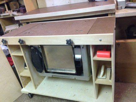 flip top planer stand   woodworking shop tool