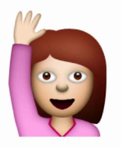 hand raised emoji - Coming Up Roses