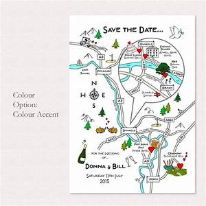 print your own colour wedding or party illustrated map by With maps for wedding invitations free printable