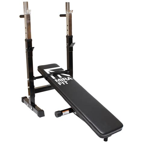 Mirafit Adjustablefolding Flat Weight Bench & Dip Station