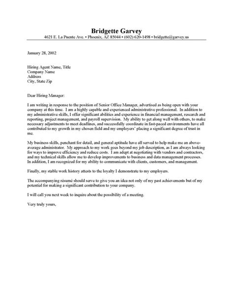 sle cover letter for office administration