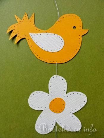 basteln mit kindern sommer fensterbild vogel und blume