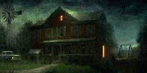 Image Gallery house haunting dark background