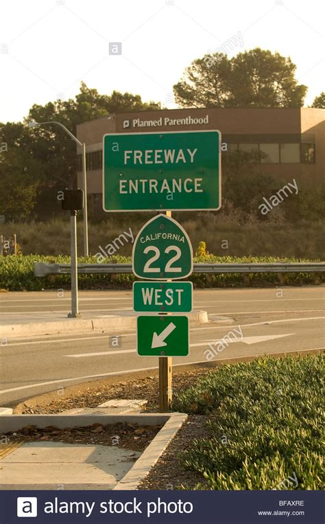 sign for the 22 freeway garden grove freeway in orange