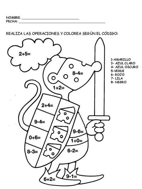 suma y colorea 10 Escuela en la nube Recursos para