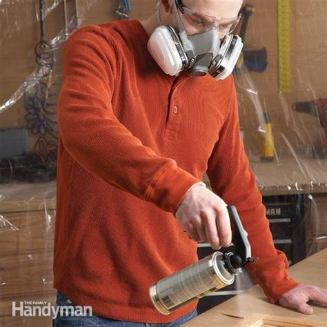 spray finishing  wood  family handyman