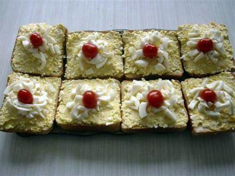 canape oeuf recette de canapes aux œufs