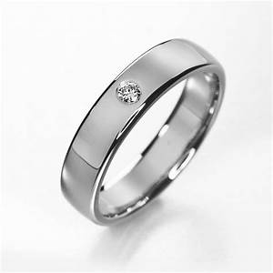titanium engagement ring simple titanium diamond wedding With wedding bands for a solitaire engagement ring