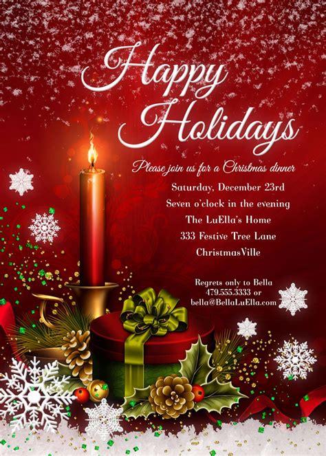 Bella LuElla: Christmas and Holiday Party Invitations