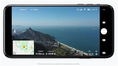 dji fly app  dji mavic mini  view map overlay drone rush
