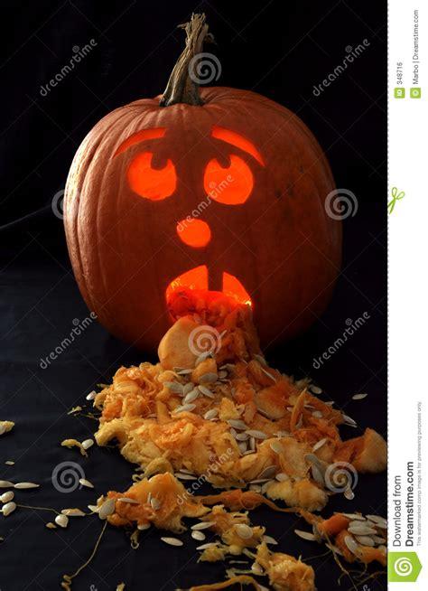 Sick Pumpkin stock photo. Image of trick, lantern, treat ...