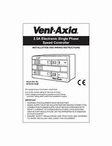 Vent Axia Speed Controller Wiring Diagram