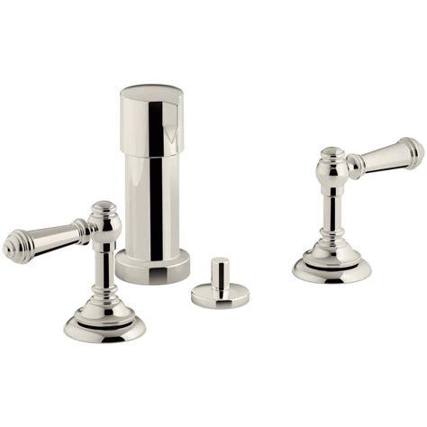 home depot kohler artifacts kitchen faucet kohler artifacts lever 2 handle bidet faucet in vibrant