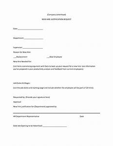 best photos of hiring justification letter sample new With letter of hiring new employee