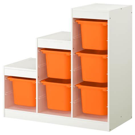 trofast storage combination white orange 99x44x94 cm ikea