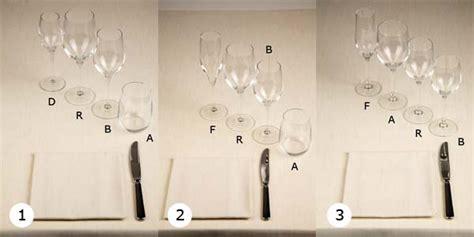 Come Si Dispongono I Bicchieri A Tavola by B5 2 6 Come Si Dispongono I Bicchieri Salabar It