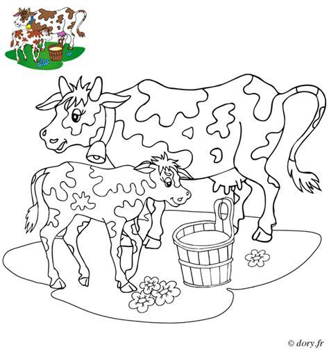 cuisine basque coloriage une vache et veau dory fr coloriages