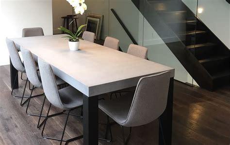 concrete dining table ideas  pinterest
