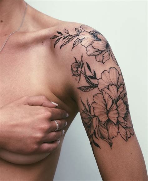floral tattoo   shoulderupper arm tattoos  dig